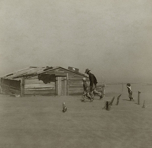 The Dust Bowl i Oklahoma 1936