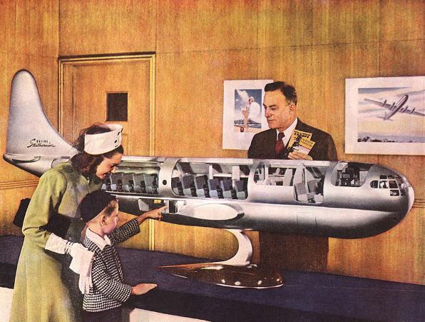 Stratocruiserens reklameværdi var anseelig i de tidlige 50ere