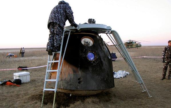 Velkommen tilbage to jorden - ikke meget pomp på Baikonur