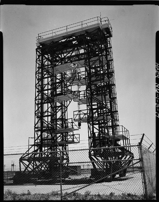 Affyringsrampen ved Complex 33 der også er en beskyttet historisk konstruktion