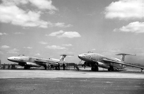 XB-51 prototyperne under USAF evaluering i 1950