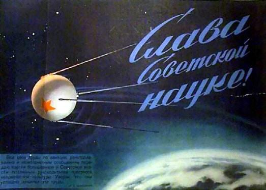 Sputnik afbilledet i en artikel fra 1957