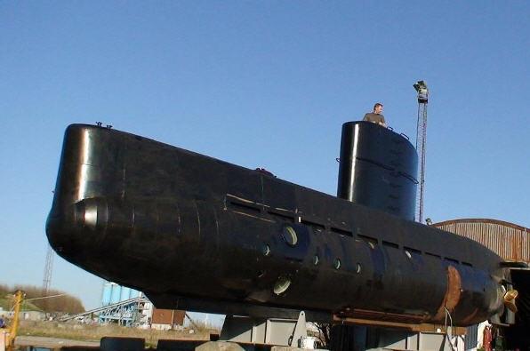 UC-3 nautilus inden søsætningen i 2008