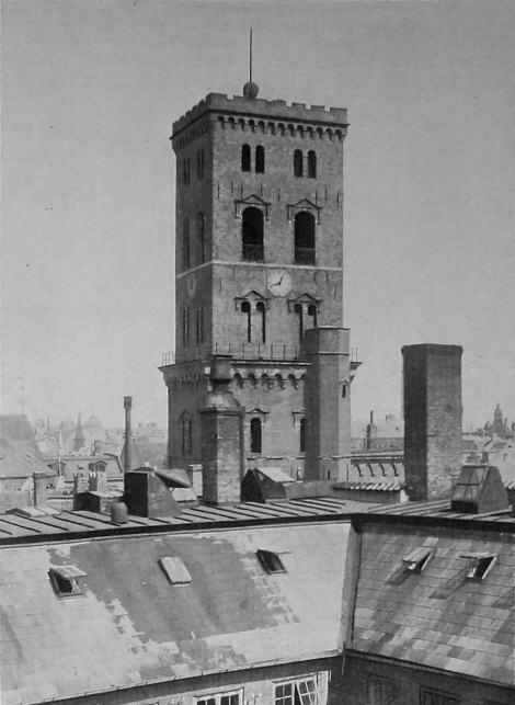Tårnet med sænket kugle omkring 1900