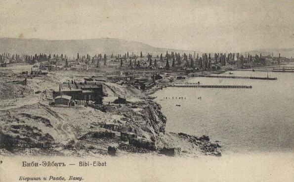 Tidligt oliefelt nær Baku