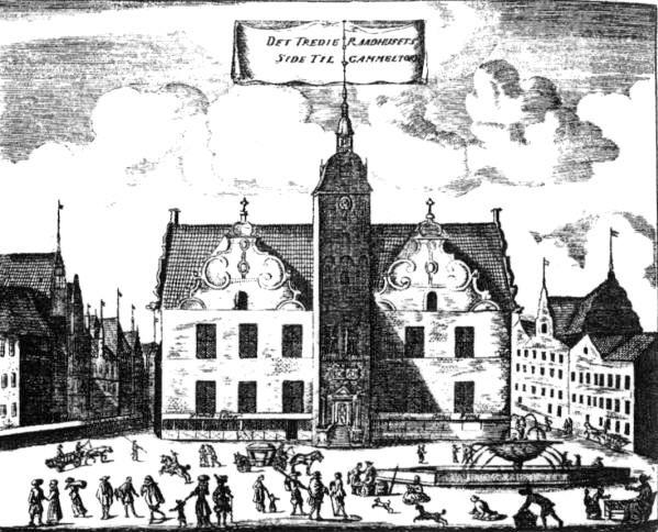 Rådhuset fra 1479 med tårnet fra 1606