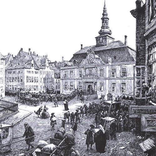 Det flotte stilrene rådhus fra 1728