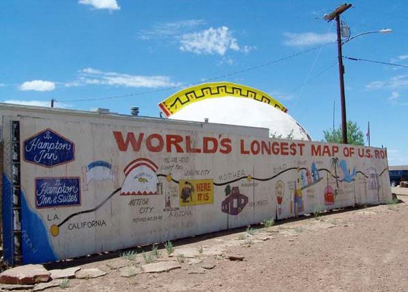 Verdens største kort over rute 66
