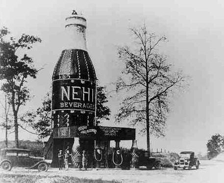 Nehi Inn, verdens største Cola flaske (1924-1933)