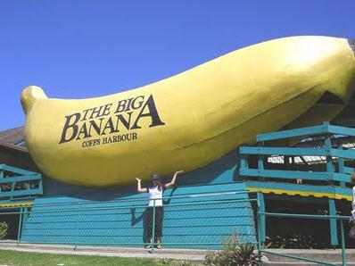 Lykken er, at blive fotograferet med verdens største banan