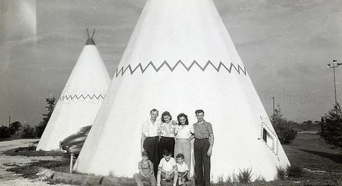 Tipi hotel fra 50erne
