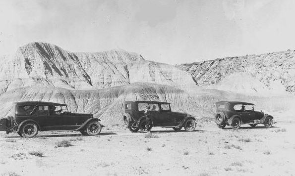 Karavane på rute 66 i 1927
