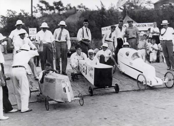 Soap Box Derby, Dayton Ohio - dengang sæbekassebiler var sæbekassebiler