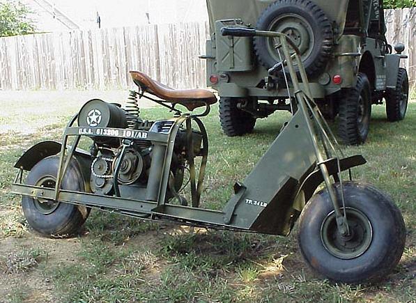 Cushman motor scooter til luftbårne styrker