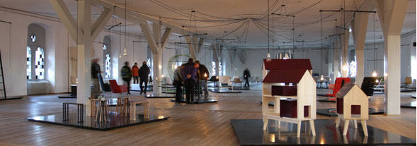 Bibliotekssalen over Trinitatis kirken - nu udstillingslokale
